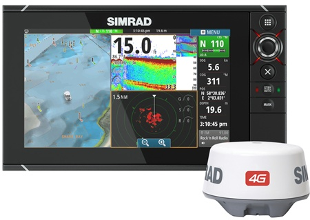 SIMRAD NSS12 evo2 Combo Chartplotter Multi-Function display w/4g radar
